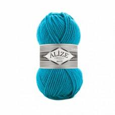 Пряжа для вязания Ализе Superlana maxi (25% шерсть, 75% акрил) 5х100г/100м цв.484 бирюзовый