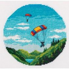 Набор для вышивания PANNA  ST-7225 Парашютизм 12х12 см