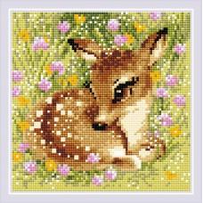Набор РИОЛИС мозаичная картина AM0062 Маленький олень 20х20 см