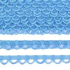 Тесьма отделочная UU цв.319.голубой шир.18-19мм уп.16,45м