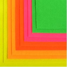 Набор листового фетра флуоресцентный IDEAL 1,4мм 20х30см FLT-FL1 уп.10 листов цв.ассорти
