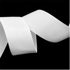 Лента Ideal репсовая в рубчик шир.38мм цв. 029 белый уп.27,42м