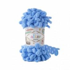 Пряжа для вязания Ализе Puffy (100% микрополиэстер) 5х100г/9.5м цв.289 синий