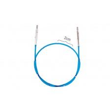42173 Knit Pro Тросик для съемных спиц SmartStix, длина 35см (готовая длина спиц 60см), синий