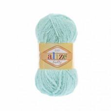 Пряжа для вязания Ализе Softy (100% микрополиэстер) 5х50г/115м цв.669 св.бирюза