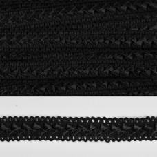 Тесьма TBY декоративная Самоса V02 шир.18мм цв.черный 39 (F322) уп.18.28м