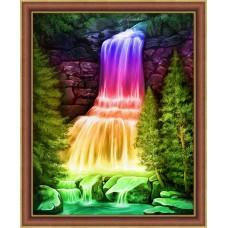 Набор для изготовления картин АЛМАЗНАЯ ЖИВОПИСЬ АЖ.1769 Радужный водопад