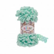 Пряжа для вязания Ализе Puffy (100% микрополиэстер) 5х100г/9.5м цв.019 св.бирюзовый