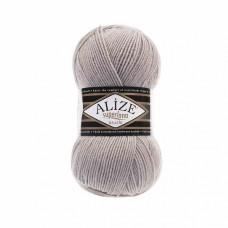 Пряжа для вязания Ализе Superlana klasik (25% шерсть, 75% акрил) 5х100г/280м цв.652 пепельный