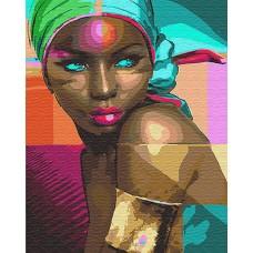 Картины по номерам Африканка GX24285 40х50 тм Цветной