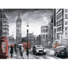 Алмазная вышивка Лондон под дождем LG250 40х50 тм Цветной