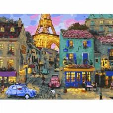Картина по номерам с цветной схемой на холсте Molly KK0642 Уютный вечер (24 цвета) 30х40 см