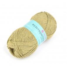 Пряжа для вязания ПЕХ Мультицветная (65% полиэстер, 35% хлопок) 5х50г/180м цв.448 св.оливковый