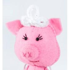 Набор для изготовления текстильной игрушки из фетра ПФД-1064 Свинка Балеринка 14,5 см