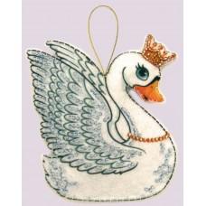 Наборы для вышивания декоративных игрушек BUTTERFLY  F101 Лебедь