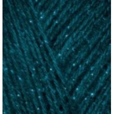 Пряжа для вязания Ализе Angora Gold Simli (5% металлик, 20% шерсть, 75% акрил) 5х100г/500м цв.017 петроль
