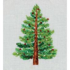 Набор для вышивания PANNA Живая картина  ЖК-2190 Ёлка 11,5х14 см