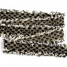 Тесьма Шанель TBY SH65 шир.25мм цв.черный уп.13,71м