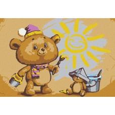 Набор юного художника Molly KHM0082 Художник медвежонок 20х30 см
