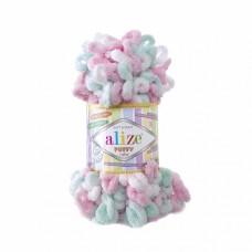 Пряжа для вязания Ализе Puffy color (100% микрополиэстер) 5х100г/9м цв.6052