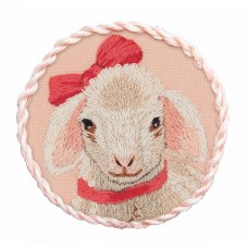 Набор для вышивания PANNA Живая картина  JK-2194 Брошь. Овечка Дейзи 5,5х5,5 см