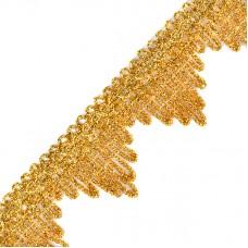 Тесьма TBY металлизированная 13-5061 шир.40 мм цв.золото уп.22,85м