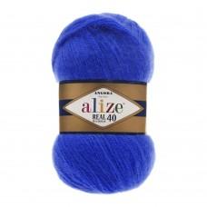 Пряжа для вязания Ализе Angora Real 40 (40% шерсть, 60% акрил) 5х100г/480м цв.141 василек