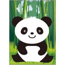 Алмазная вышивка Веселая панда X102 17х22 тм Цветной