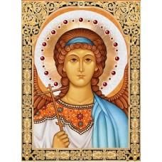 Набор для изготовления картин АЛМАЗНАЯ ЖИВОПИСЬ АЖ.1845 «Икона Ангел Хранитель» 30х40 см
