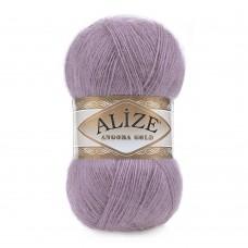 Пряжа для вязания Ализе Angora Gold (20% шерсть, 80% акрил) 5х100г/550м цв.312 т.лиловый