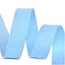 Тесьма киперная 10 мм хлопок 2,5г/см TBY.CT10351S цв.S351 голубой уп.50м