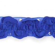 Тесьма с пайетками TBY TH463-1 шир.25мм цв.040 синий уп.18,28м