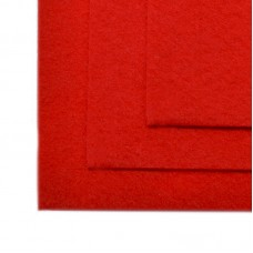 Фетр листовой мягкий IDEAL 1мм 20х30см FLT-S1 уп.10 листов цв.601 красный