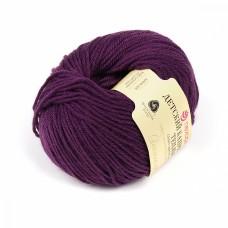 Пряжа для вязания ПЕХ Детский каприз тёплый (50% мериносовая шерсть, 50% фибра) 10х50г/125м цв.698 т.фиолетовый
