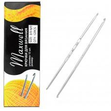 Крючки для вязания  ТВ-СН-01  Maxwell  №3/0-6/0  двусторон. цв.никель  упак.12шт.