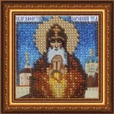 Рисунок на ткани Вышивальная мозаика  4053 Икона Св. Пафнутий 6,5х6,5 см