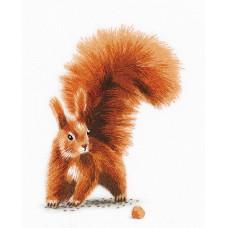 Набор для вышивания PANNA Живая картина  ЖК-2176 Белочка с орешком 11,5х15,5 см