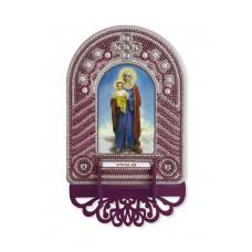 Набор для вышивания бисером НОВА СЛОБОДА ВК1004 Пресвятая Богородица 10х13 см