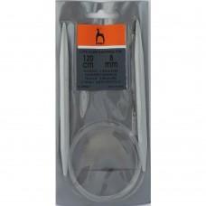 49867 PONY Спицы круговые 8,00 мм/120 см, пластик
