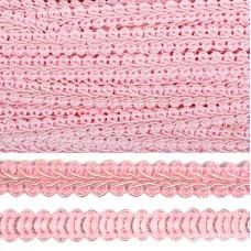 Тесьма TBY Шанель плетеная шир.12мм 0384-0016 цв.S070 грязно-розовый уп.18,28м