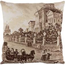 Набор для вышивания PANNA  ПД-1969 Подушка Старая Москва. Дом Пашкова 41,5х41,5 см