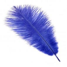 Перо страуса S-300-9 30-35 см цв.синий
