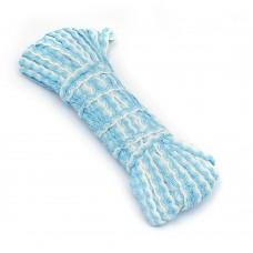 Тесьма плетеная вьюнчик (МЕТАНИТ) С-3784 г17 шир.7мм (5мм) рис.9377 цв.31 белый, голубой, серебро уп.20м