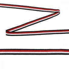 Тесьма TBY тканая Рубчик неэластичная Лампас NET6515 шир.15мм уп,45,7м