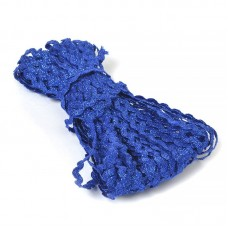 Тесьма плетеная вьюнчик (МЕТАНИТ) С-2914 (3621) г17 шир.7мм (5мм) рис.8657 цв.027 синий уп.20м