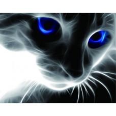 Набор Цветной для изготовления картины со стразами LG016 Синие глаза 40х50