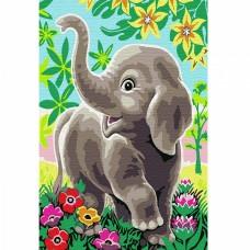 Набор юного художника Molly KH0896 Слоненок в сказочном лесу (16 Цветов) 20х30 см