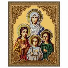 Картина 5D мозаика с нанесенной рамкой Molly KM0716 Вера, Надежда, Любовь и матерь их София (15 Цв.) 40х50 см