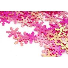 Пайетки россыпью Ideal TBY-FLK524 18мм цв.028 ярк.розовый уп.50г