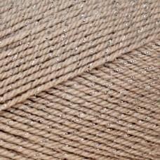 Пряжа для вязания КАМТ Праздничная (48% кашмилон, 48% акрил, 4% метанит) 10х50г/160м цв.188 топл.молоко